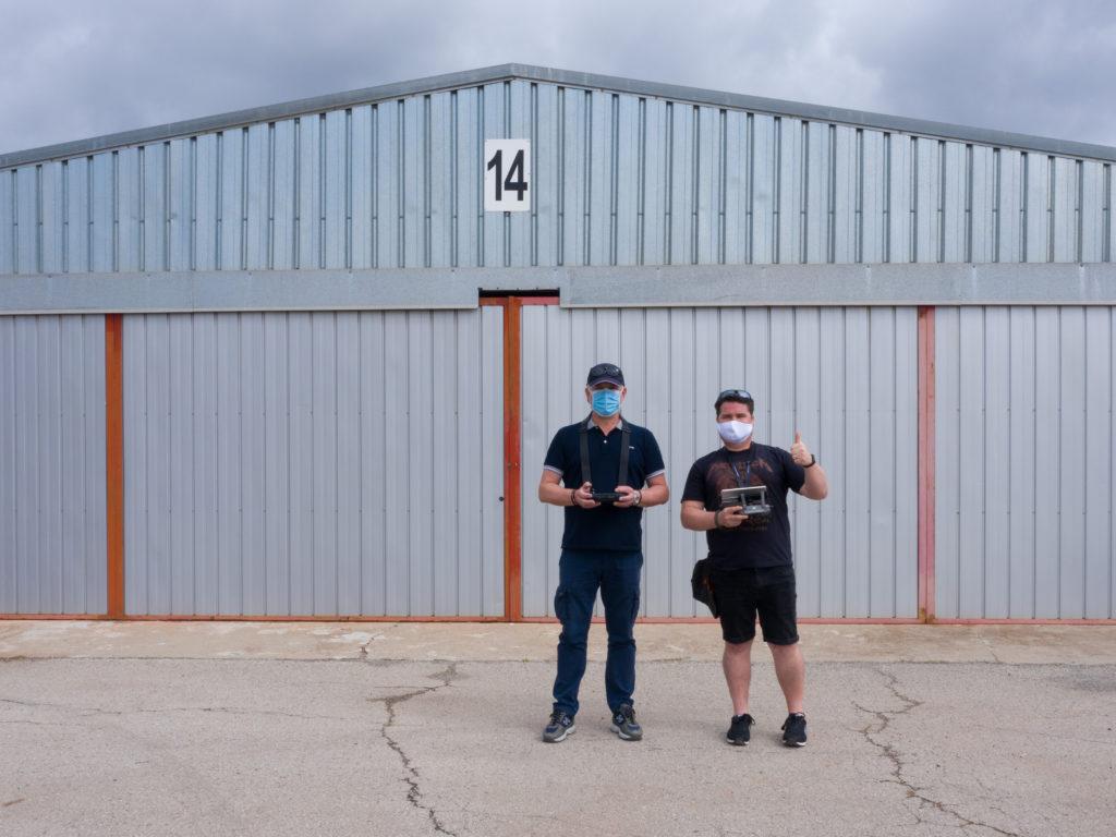 Alumno e instructor curso piloto avanzado drones