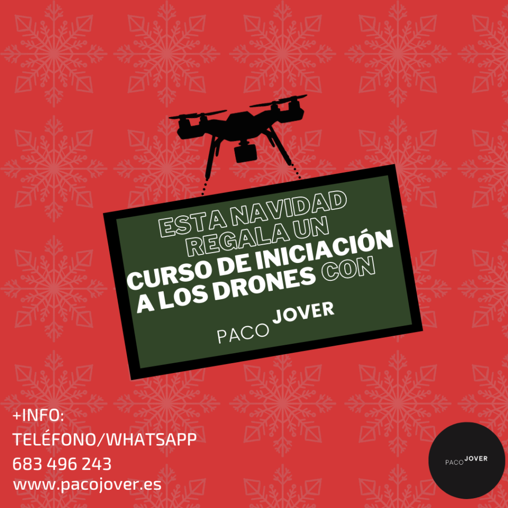 Clase iniciación drones. Regalo original Navidad