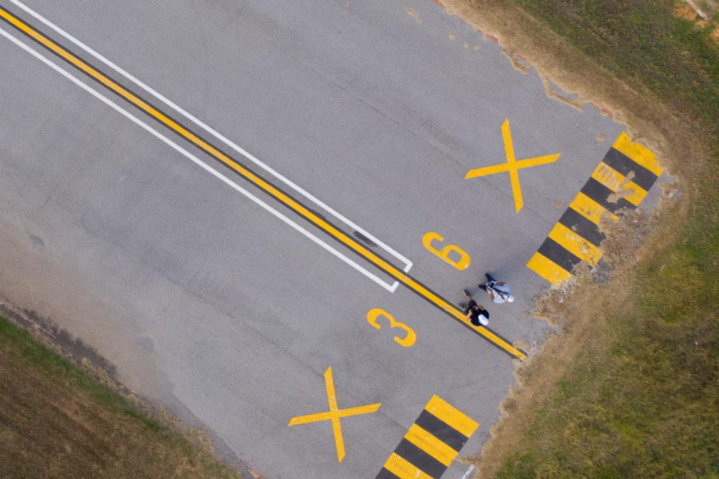 Paco Jover fotografía aérea con drones pista vuelo