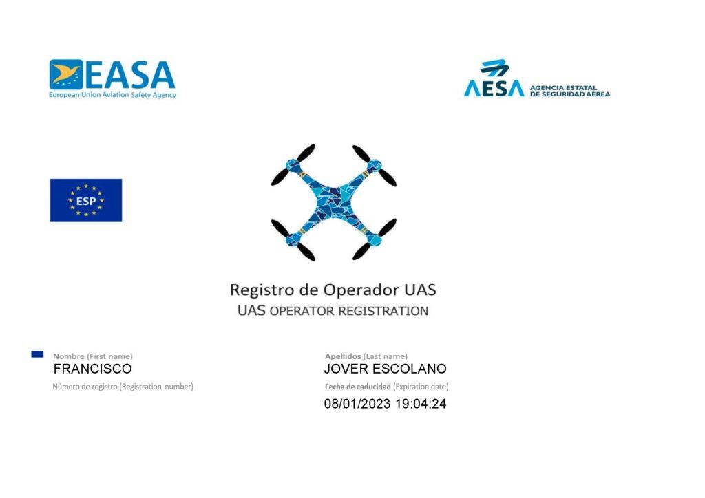 Paco Jover operador drones AESA